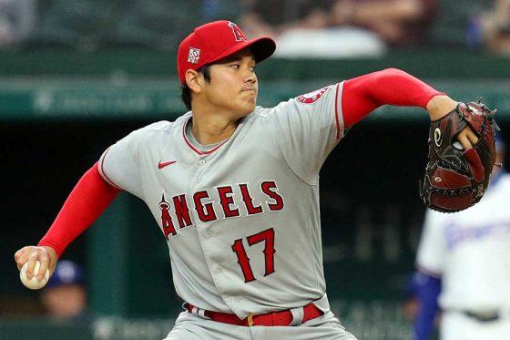 「2番・投手」で先発出場したエンゼルス・大谷翔平【写真:AP】