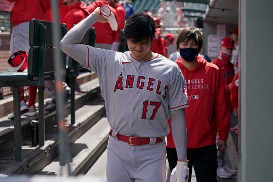 「2番・DH」で先発したエンゼルス・大谷翔平【写真:AP】