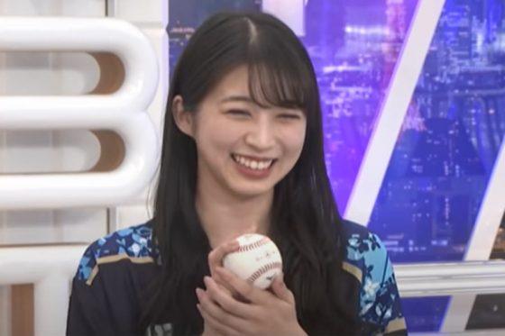「モーニング娘。'21」の牧野真莉愛さん【画像:パーソル パ・リーグTV】