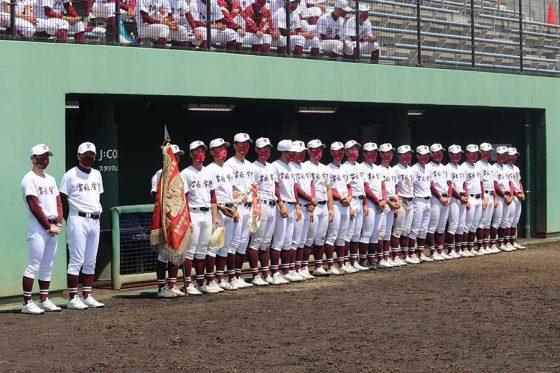 茨城県春季大会を制した常総学院【写真:川村虎大】