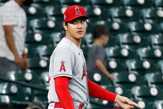 「2番・投手」で先発したエンゼルス・大谷翔平【写真:Getty Images】