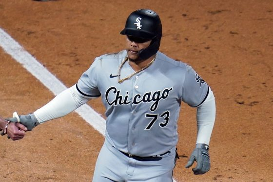 野手相手に一発を放ったホワイトソックスのヤーミン・メルセデス【写真:AP】