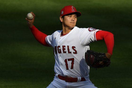 「2番・投手」で先発出場したエンゼルス・大谷翔平【写真:Getty Images】