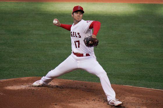 「2番・投手」で出場しているエンゼルス・大谷翔平【写真:AP】