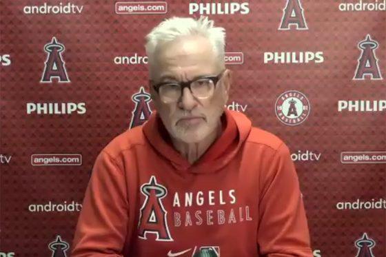 試合後会見に臨んだエンゼルスのジョー・マドン監督(画像はスクリーンショット)