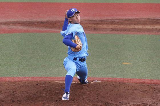 先発した日体大・矢澤宏太【写真:川村虎大】
