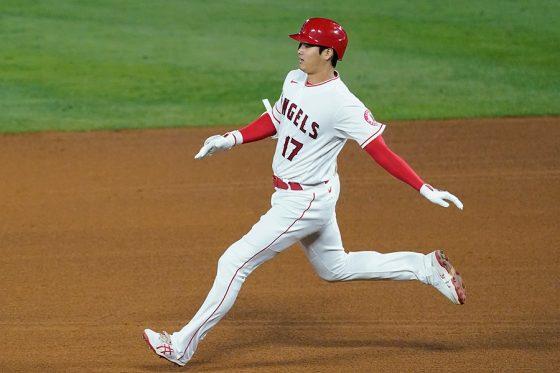 右前二塁打を放ったエンゼルス・大谷翔平【写真:AP】
