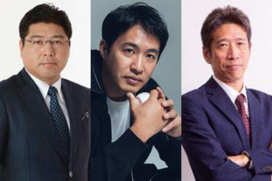 プロ野球解説者の真中満氏、五十嵐亮太氏、野口寿浩氏(左から)【写真提供:DAZN】