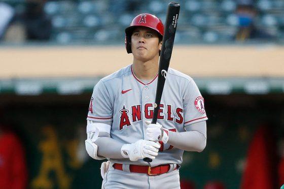「2番・指名打者」で出場したエンゼルス・大谷翔平【写真:Getty Images】