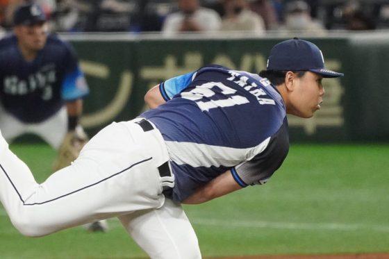 4番手で登板した西武・平良海馬【写真:荒川祐史】