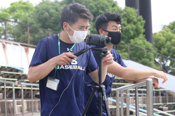 サイドカメラでの映像中継の様子【写真:川村虎大】