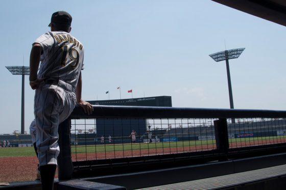 見据えるのはNPB傘下の女子プロ野球【写真:伊藤秀一】