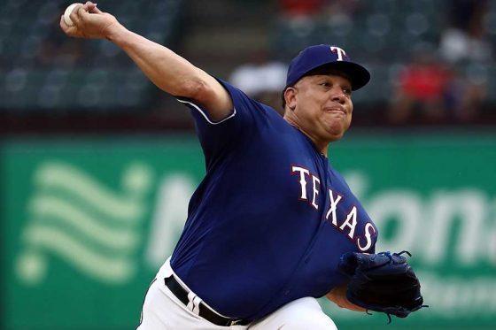 MLB通算247勝を誇るバートロ・コロン(写真はレンジャーズ所属時)【写真:Getty Images】