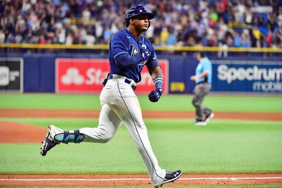 デビュー戦で本塁打を放ったレイズのワンダー・フランコ【写真:Getty Images】