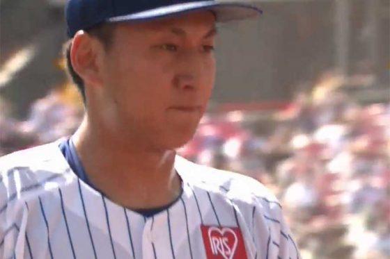 危険球退場となった楽天・高田孝一【画像:パーソル パ・リーグTV】