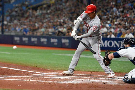 第2打席で適時二塁打を放ったエンゼルス・大谷翔平【写真:Getty Images】