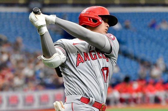 25号本塁打を放つなど4打数3安打3打点の大活躍を見せたエンゼルス・大谷翔平【写真:Getty Images】