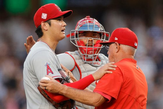 ヤンキース戦に先発するも初回KOとなったエンゼルス・大谷翔平【写真:Getty Images】