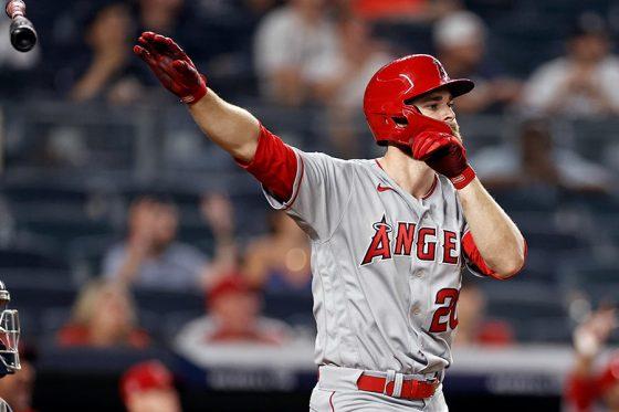 9回に同点満塁弾を放ったエンゼルスのジャレド・ウォルシュ【写真:AP】
