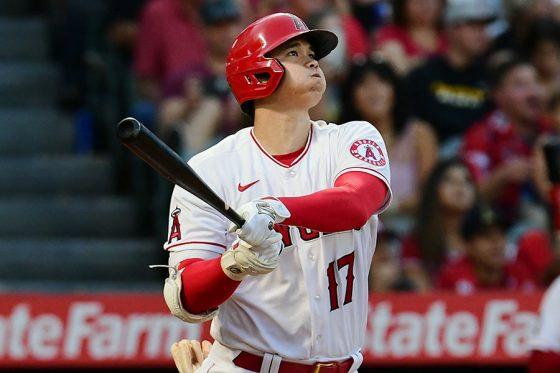 3回の第2打席でこの日1本目となる本塁打を放ったエンゼルス・大谷翔平【写真:Getty Images】