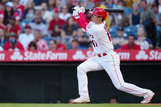 初回に同点となる適時二塁打を放ったエンゼルス・大谷翔平【写真:Getty Images】