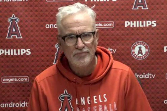 試合後の会見に臨んだエンゼルスのジョー・マドン監督(画像はスクリーンショット)
