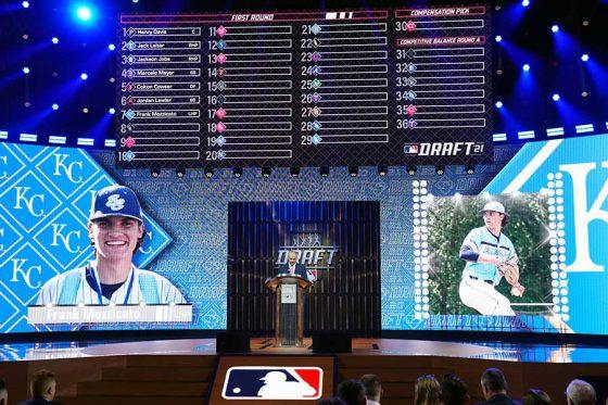 MLBドラフトでフランク・モジカトが指名された時の様子【写真:Getty Images】