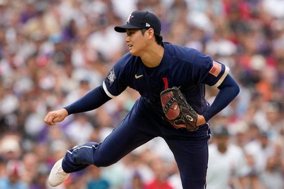 球宴に「1番・DH」兼先発投手で出場しているエンゼルス・大谷翔平【写真:AP】