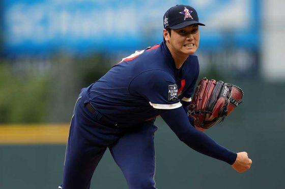 球宴に「1番・DH」兼先発投手で出場したエンゼルス・大谷翔平【写真:Getty Images】