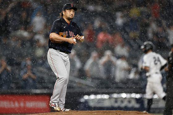 サンチェスに本塁打を許したレッドソックス・澤村拓一【写真:Getty Images】