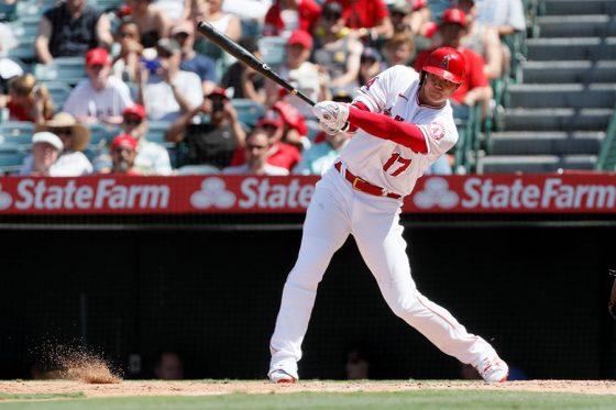 7回の第4打席で一塁内野安打を放ったエンゼルス・大谷翔平【写真:AP】