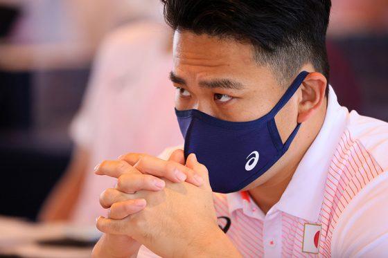 侍ジャパンのミーティングに臨んだ田中将大【写真:Getty Images】
