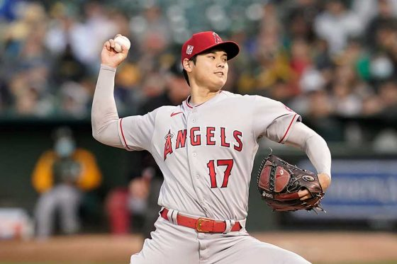 「2番・投手」で先発したエンゼルス・大谷翔平【写真:AP】