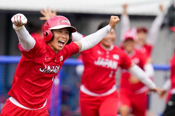 ソフトボール日本代表が延長タイブレークの末にメキシコ代表に勝利【写真:AP】