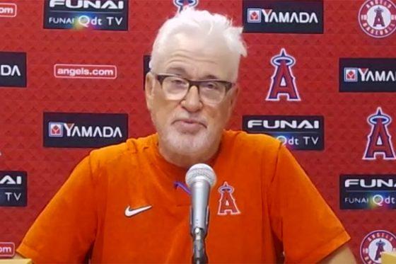 試合後のオンライン会見に臨んだエンゼルスのジョー・マドン監督(画像はスクリーンショット)