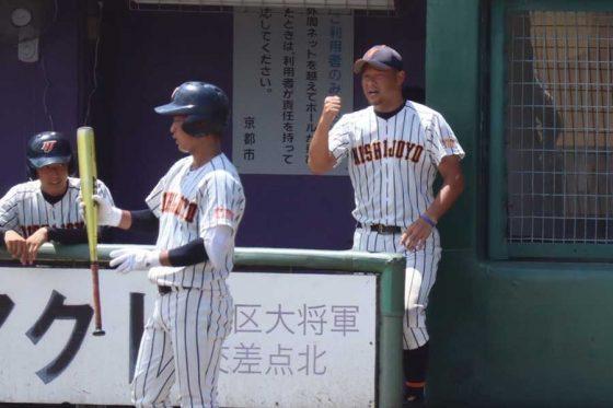 西城陽・染田賢作監督(右)【写真:市川いずみ】
