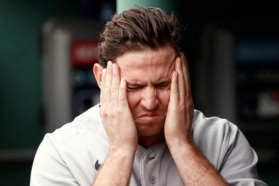勝ち越し犠飛を許したヤンキースのサック・ブリットン【写真:Getty Images】