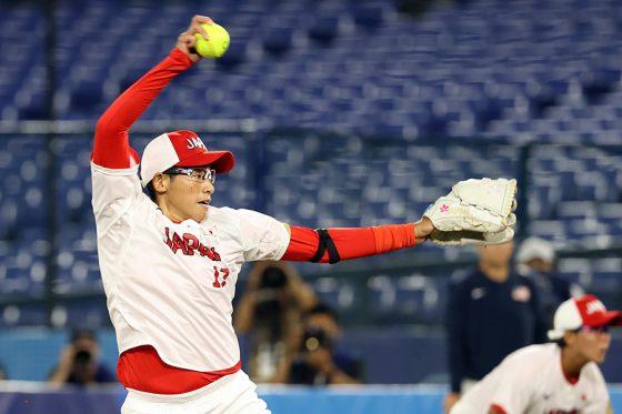 先発したソフトボール日本代表・上野由岐子【写真:Getty Images】