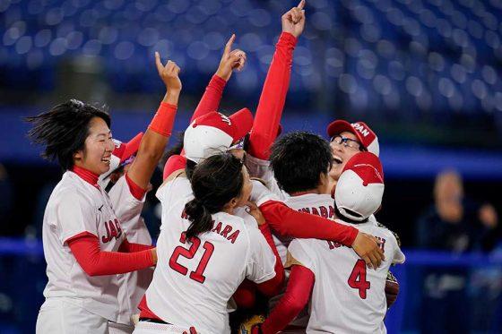 ソフトボール日本代表が米国を破り悲願の金メダルを獲得【写真:AP】