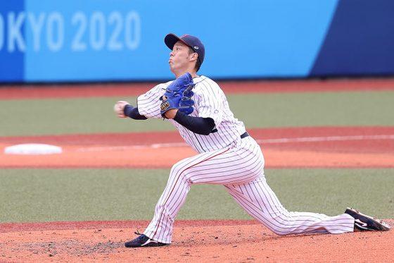 2番手で登板した侍ジャパン・青柳晃洋【写真:Getty Images】