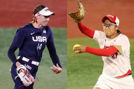 決勝で対戦した米国代表・アボット(左)と日本代表・後藤希友【写真:Getty Images】