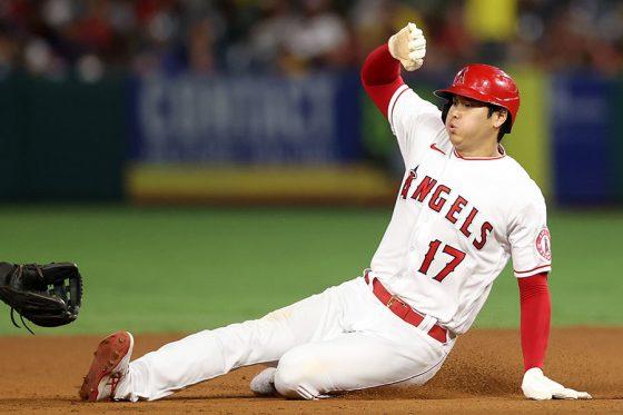 今季15個目の盗塁を決めたエンゼルス・大谷翔平【写真:Getty Images】