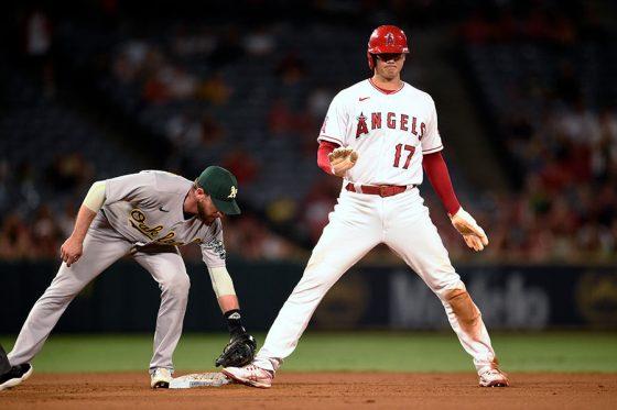 今季15個目の盗塁を決めたエンゼルス・大谷翔平【写真:AP】