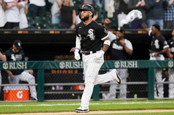 本塁打を放ったWソックスのヨアン・モンカダ【写真:AP】