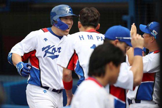 韓国がイスラエルに勝利し準決勝進出を決めた【写真:Getty Images】