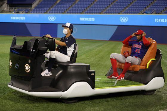 東京五輪の野球競技で注目を集めているリリーフカー【写真:Getty Images】