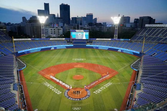 東京五輪の野球競技が行われている横浜スタジアム【写真:AP】