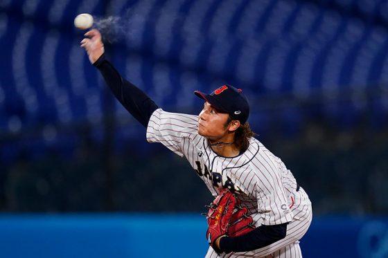 7回から2イニングを投げ無失点に抑えた侍ジャパン・伊藤大海【写真:AP】