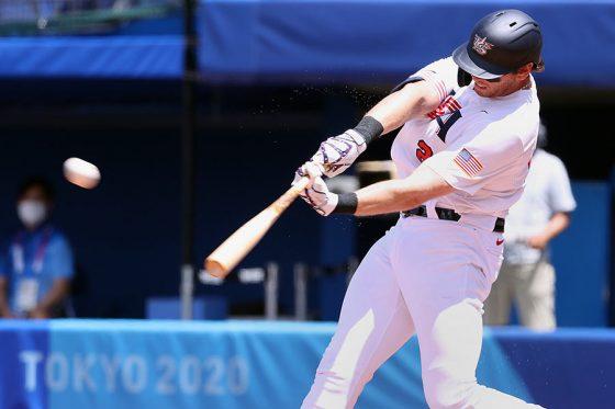 東京五輪で使われているボールは投手だけでなく打者からも好評のようだ【写真:Getty Images】