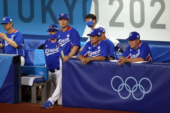 5日の準決勝で米国代表に敗れた韓国代表【写真:Getty Images】